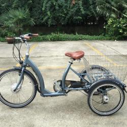 Электрический трехколесный велосипед для взрослых