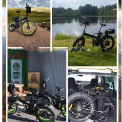 Складной электро fatbike 350-500W